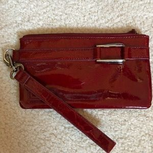 Red patent clutch